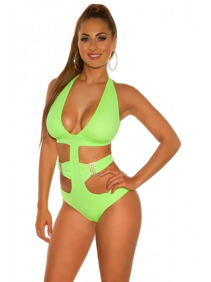 costume de baie verde neon