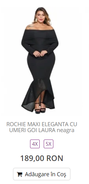 rochii dama marimi mari