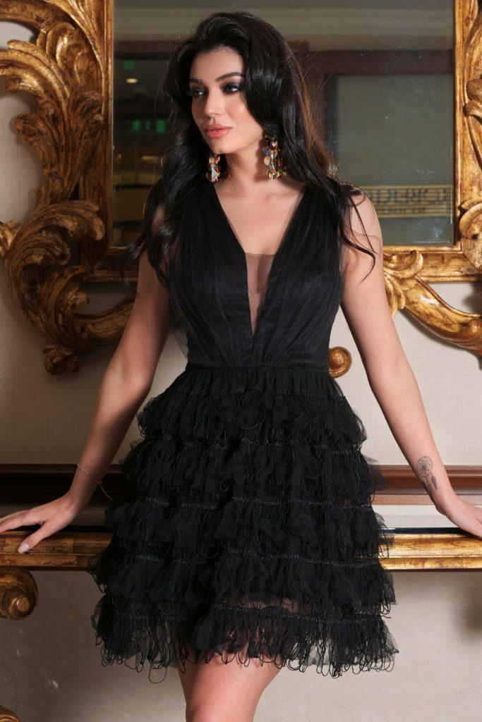 rochii de nunta scurte negre