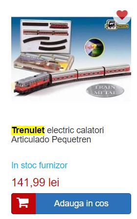 trenulet electric