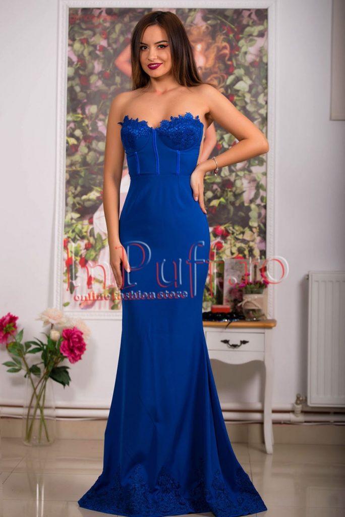 rochii de seara albastre