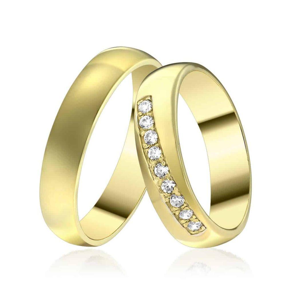 verighete aur galben cu pietre