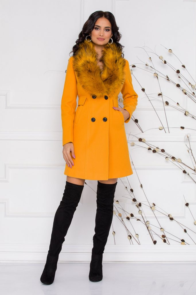 palton mustar