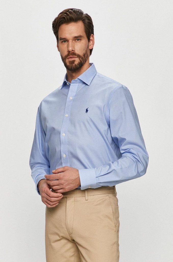 Camasi barbati albastre