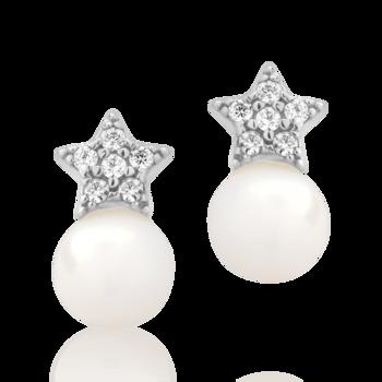 cercei aur perle