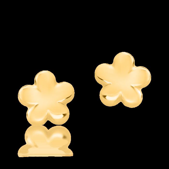 Cercei din aur galben