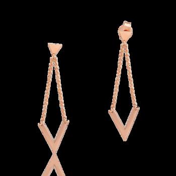 Cercei din aur roz