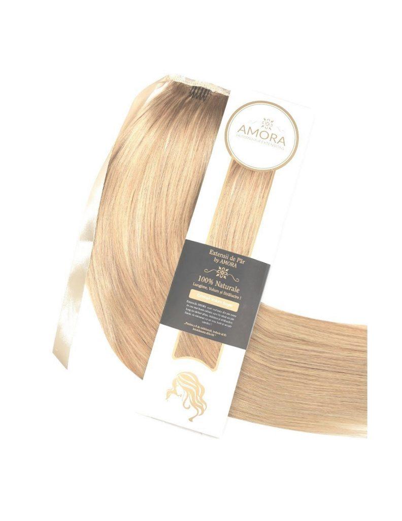 Extensii tip coada-vip, blond-platinat-bej-16