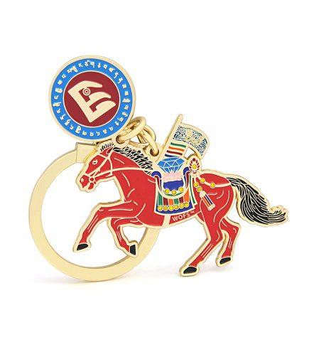 Amuleta cu Cal de vant rosu – Lung Ta pentru succes