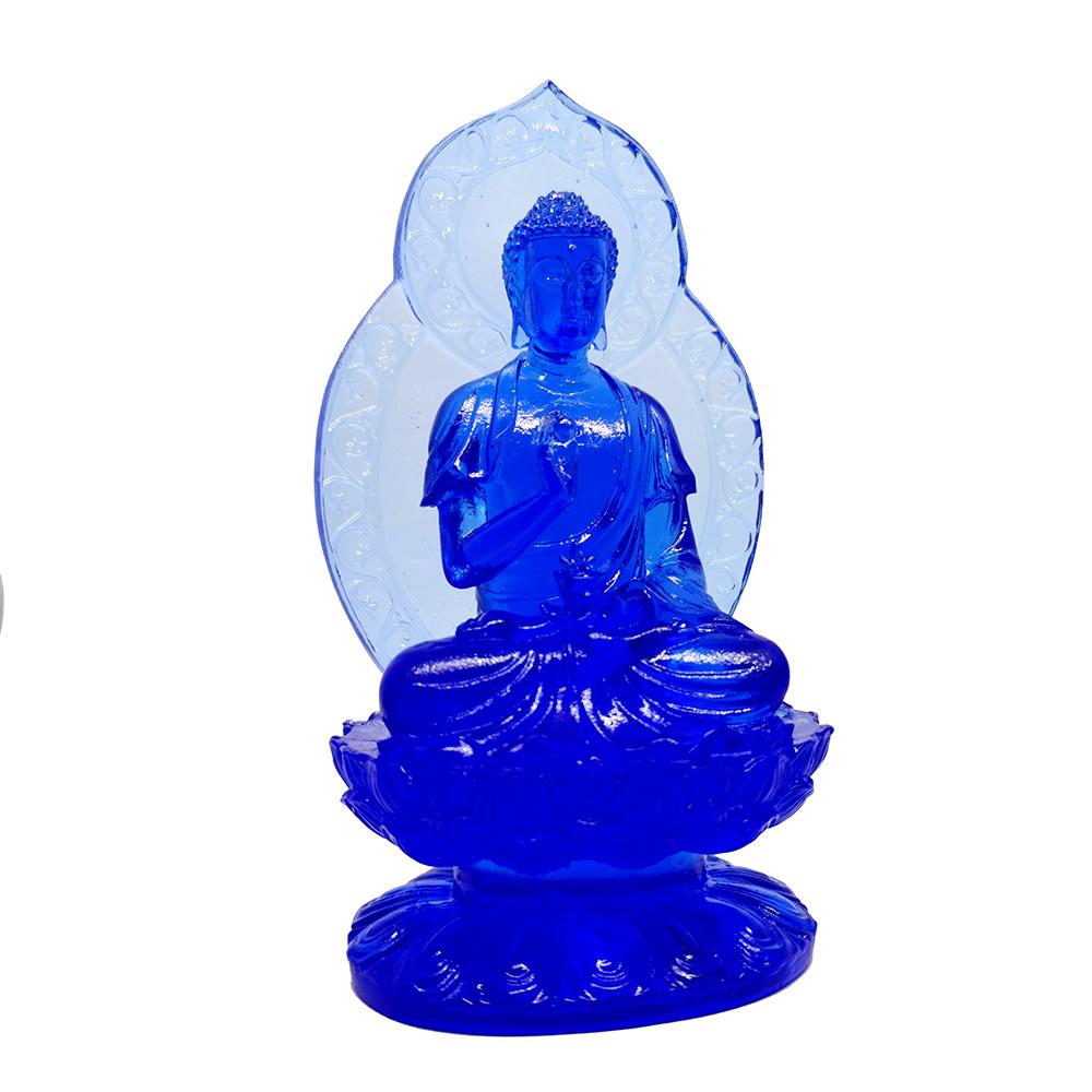 Statueta cu Buddha medicinei albastra – din sticla