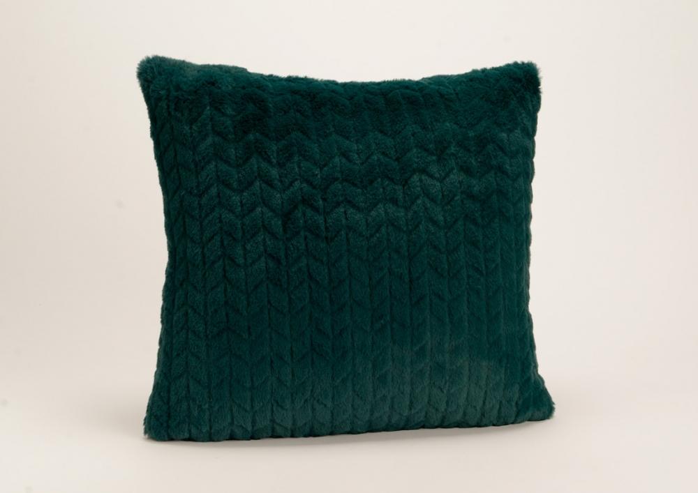 perna decorativa catifea verde