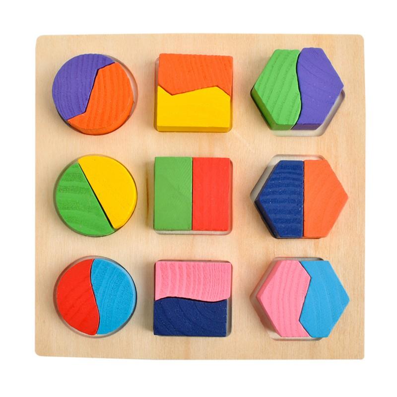 Puzzle din Lemn montessori