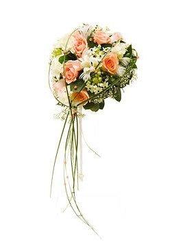 Buchet mireasa frezii si trandafiri