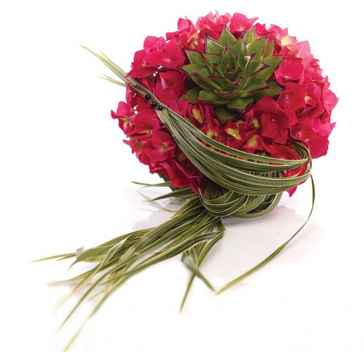 Buchet de mireasa hortensii roz