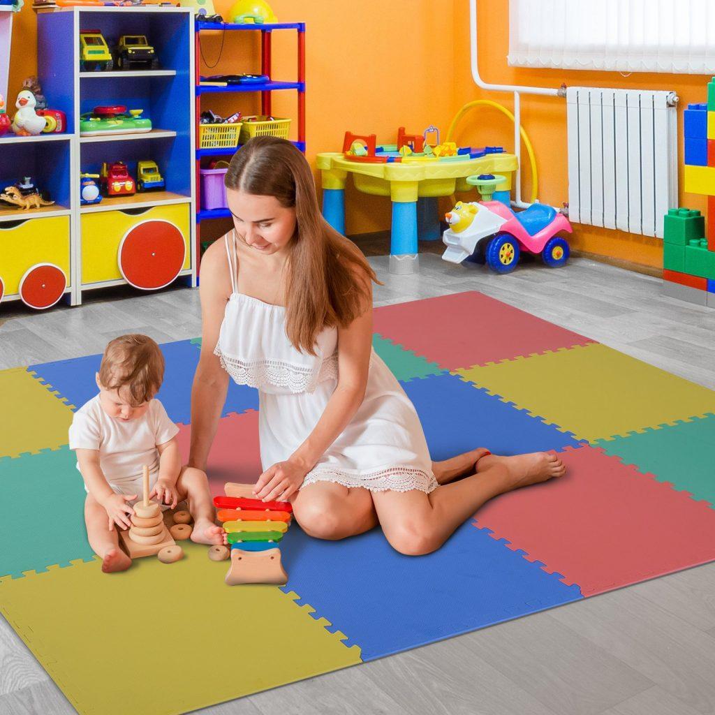 Covor puzzle copii