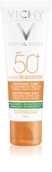 Crema de fata Vichy cu protectie solara 50 SPF Capital Soleil Mattifying 3-in-1
