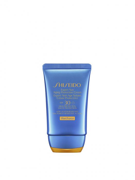 Crema de fata cu protectie solara Shiseido Wet Force Expert Sun Aging Protection Cream Plus SPF50