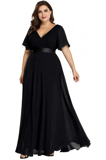 rochie-lunga-din-voal-i-cordon-din-satin-lily-negru-2