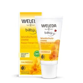 Crema de galbenele pentru zona scutecului la bebelusi