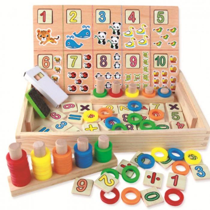 Tabla educativa Montessori cu cifre