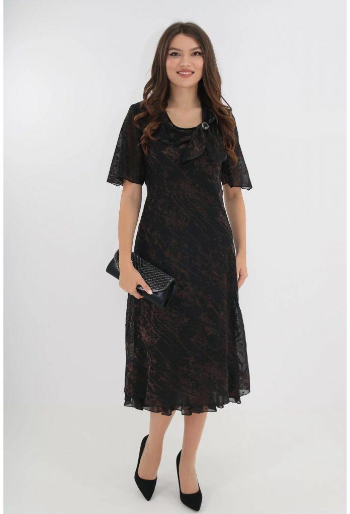 rochie-eleganta-din-voal-negru