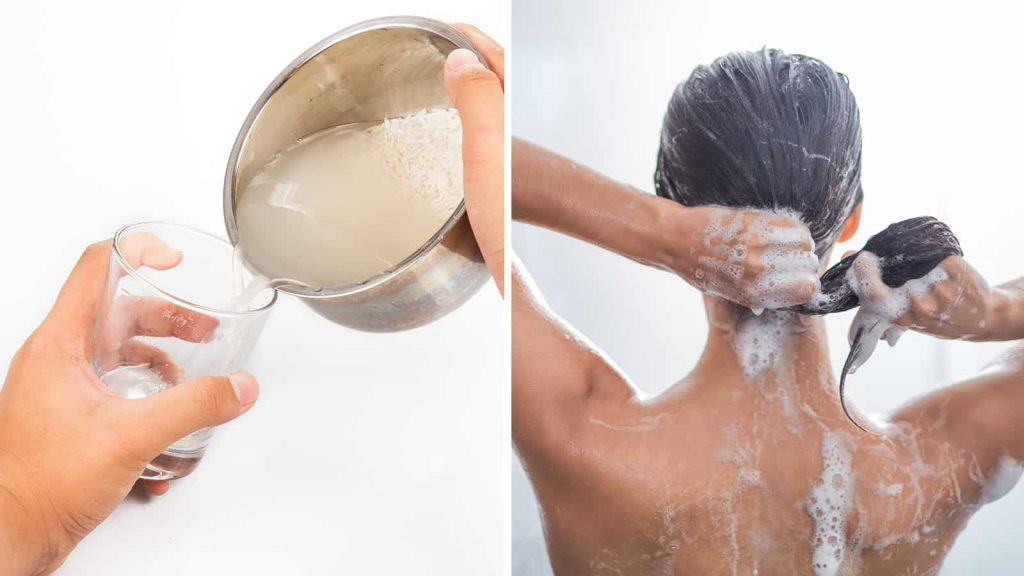 apa de orez pentru par